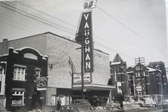 The Vaughan Cinema, corner of Vaughan Rd/St Clair Ave West, Toronto circa 1950 Toronto Canada, Vintage Movies, Ontario, The Neighbourhood, Past, Palaces, History, City, Urban