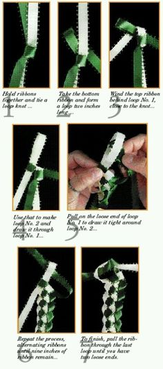 to make a braided lei using two colors. Hot glue to a plain headband for a new twist on hair fashion.How to make a braided lei using two colors. Hot glue to a plain headband for a new twist on hair fashion. Ribbon Lei, Ribbon Work, Ribbon Crafts, Diy Crafts, Ribbons, Money Lei, Money Origami, Money Rose, Hawaiian Crafts