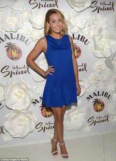 Lauren Conrad was feeling blue at the Malibu Island Spiced Summer Soirée in Miami http://dailym.ai/1rdL14U