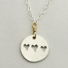 Three Hearts Necklace by Britta Ambauen | Ethical Ocean
