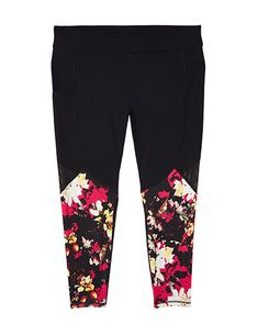f17621a7f21 plus size floral printed leggings Plus Size Activewear