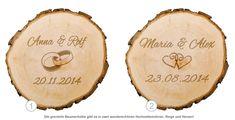 Baumscheibe zur Hochzeit - personalisiert - 2