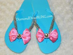 rhinestone bow sandals www.DiamondDivasBLING.com ♥ LIKE ♥ our page today! ♥ www.facebook.com/DiamondDivasBLING ♥ Rhinestone Sandals, Rhinestone Bow, Bow Sandals, 3 Shop, Flip Flops, Bling, Facebook, Shopping, Women