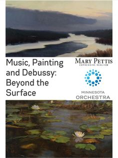 Mary Pettis #ArtExhibit Thurs-Sat Only! Thurs 6/8, 930am-2pm; Fri 6/9 & Sat 6/10, 630pm through the concert;  http://www.minnesotaorchestra.org/showcase/247-music-painting-and-debussy-beyond-the-surface #debussy #musicinspireslife #minnesotaorchestra #musicinspiredart