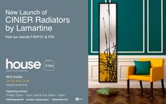 ✨Cinier Design Radiators by Lamartine✨ From May 2019 @ House Event, RDS Dublin Granite Worktops, New Launch, Work Tops, Radiators, Fireplaces, Dublin, Showroom, Product Launch, House