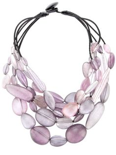 beaded necklace. Love the color!!