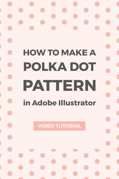 Learn how to make a simple polka dot pattern using Illustrator's pattern maker tool. You can use these pattern for your blog's graphics or original artwork. Youtube video tutorial included.