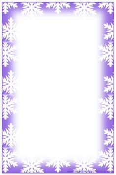 Attractive FREE Printable Christmas Snowflake Writing Paper