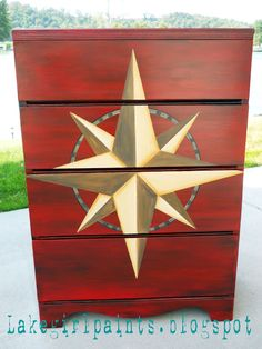 Lake Girl Paints: Nautical Compass Dresser - with the complete how-to