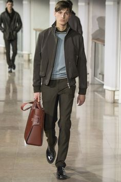 See the Hermes autumn/winter 2015 menswear collection It's all about the BAG!