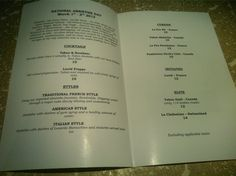 Nice menu from Clive's Classic Lounge, Victoria, BC.  http://www.clivesclassiclounge.com/