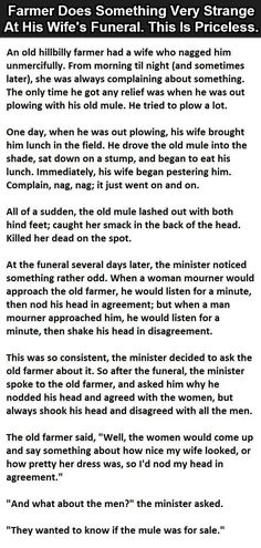 A Farmer Did Something Very Strange At His Wife's Funeral This Is Priceless funny jokes story lol funny quote funny quotes funny sayings joke hilarious humor stories marriage humor funny jokes Joke Stories, Weird Stories, Short Stories, Love Quotes Funny, Funny Sayings, Funny Jokes, Hilarious, Wife Humor, I Love My Wife