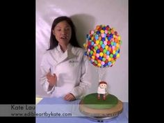 """Introduction to """"Up and Away"""" Cake Tutorial and a little about the artist behind this cake. Full tutorial is featured in Cake Masters Magazine. Anti Gravity Cake, Gravity Defying Cake, 3d Cakes, Fondant Cakes, 3d Cake Tutorial, Cake Structure, Up Theme, Disney Up, Dessert Decoration"""