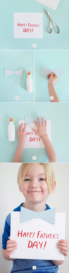 Kids DIY Bow-tie Father's Day Card on Julep.