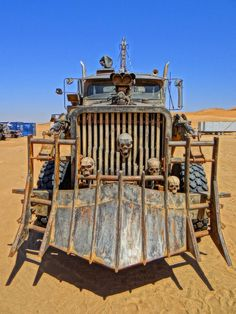 """The set of """"Mad Max: Fury Road"""". Cars"""