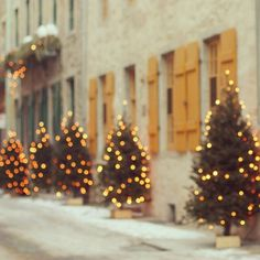 Christmas spirit - A little street in Quebec city <3