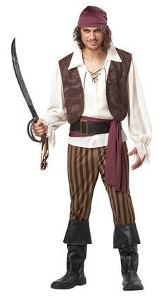 Captain Jack Sparrow Pirate Costume Halloween Men Pirates of the Caribbean pirate clothing fat people dress uniforms