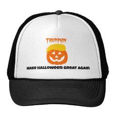 Donald Trumpkin Pumpkin Make Halloween Great Again Trucker Hat