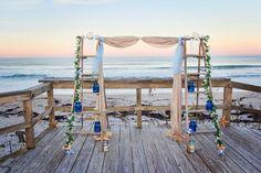 Vintage Ladder Arch for beach wedding