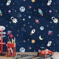 Het fotobehang In de ruimte geeft de jongenskamer net de sfeer die jij zoekt. Het fotobehang is op maat en in diverse typen behang verkrijgbaar. Je krijgt altijd eerst een GRATIS digitale drukproef, zodat je precies kunt zien wat je hebt besteld. #fotobehang #behang #vliesbehang #behangen #vlies #zelfklevend #diy #fotomuur #fotoprint #muur #interieur #ruimte #ruimtevaart #illustratie #ruimtereis #planeten #spaceshuttle #raket #jongen #jongenskamer Kids Bedroom, Baby Room, Sweet Home, New Homes, Home Decor, Google, Siena, Planets, Decoration Home