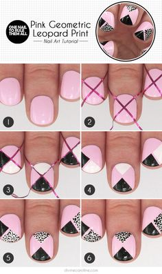 Nail Art: Take a Walk on the Wild Side with Pink Geometric Leopard Spots | Divine Caroline