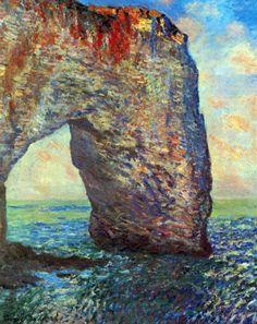 Die Felsenklippen von etretat La Manneporte von Claude Monet