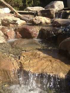 Waterfall created by The Pond Doctor. #WaterfallWednesday