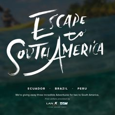 Brazil, here I come! I just entered to win a South American adventure, and you can too: http://bit.ly/EscSAm