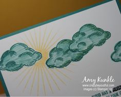 Masking sun/clouds, Sprinkles of Life, Sneak Peek Sun And Clouds, Image C, Creative Studio, Sprinkles, Color Schemes, Stampin Up, Masking, Invitations, Layering