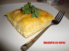 Placinta cu macaroane - Bucataria cu noroc Noroc, Tortellini, Risotto, Pudding, Desserts, Sweets, Tailgate Desserts, Deserts, Custard Pudding
