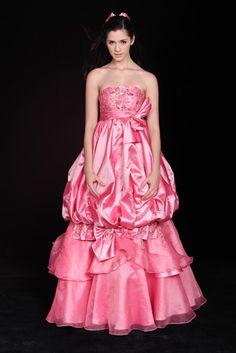 sweet princess detachable empire waist Strapless Weddding Dress