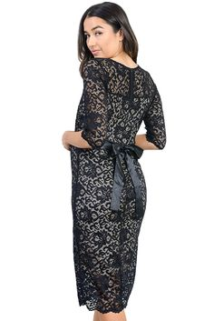 f7e52ca536ec Hello Miz Women's Baby shower floral Lace Maternity Dress at Amazon Women's  Clothing store: