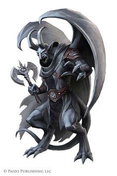 Pathfinder: Adamantine Clan Gargoyle by WillOBrien on DeviantArt