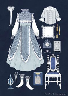 Stunning Draw a Fashionable Dress Ideas. Exhilarating Draw a Fashionable Dress Ideas. Vintage Fashion Sketches, Fashion Design Drawings, Anime Outfits, Cute Outfits, Moda Lolita, Kleidung Design, Fashion Art, Fashion Outfits, Anime Dress