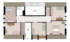 Boswoning 6 | Buitenplaats Oudeweg Interior Concept, New House Plans, Planer, Bungalow, Architecture Design, New Homes, Floor Plans, Houses, Flooring