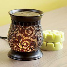 Amaretto Swirl Scent Glow® Warmer by PartyLite® - www.partylite.biz/debbiefreund