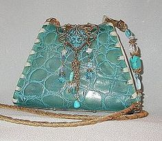 pictures of turquoise items | TURQUOISE ALLIGATOR PURSE BY MAYA (item #408786)