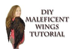 DIY Child Size Maleficent Wings Tutorial - great for Halloween or Cosplay