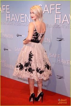 Julianne Hough & Josh Duhamel: 'Safe Haven' Berlin Premiere  Love this dress she is wearing!