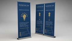 signature-tax-banner Roller Banners, Creative