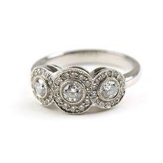 Tiffany & Co. Platinum & Diamond Circlet Ring