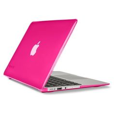 Speck 'SmartShell' Snap-On MacBook Air Laptop Case ($50) ❤ liked on Polyvore featuring bags, luggage, electronics, laptop, tech, cases, computer and hot lips pink