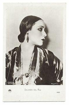 1930 actress dolores del rio silent vamp photo postcard