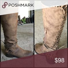 Very Volatile Marcel Leopard Boots NEW in box! These boots are everything! ❤️😍❤️ True to size, I would suggest going up a half size for wide feet. very volatile Shoes Combat & Moto Boots