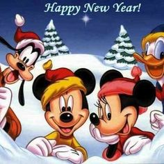 Happy New Year - Mickey & Minnie Mouse