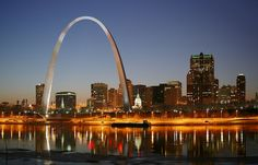 The Gateway Arch in St Louis, MO