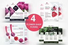 Flower Shop Flyers by UNIK Agency on @creativemarket
