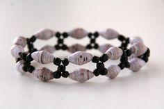 Double+Strand+Paper+Bead+Bracelet+by+TallTaleIndustries+on+Etsy,+$15.00