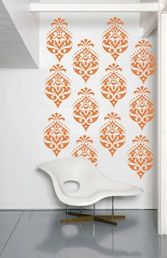 Wall Decal -Floral damask Pattern Set-10 per set