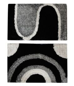 Majesty Home Decor Shaggy Black Polyster Doormat - Set Of 2 Rugs On Carpet, Carpets, Doormat, Shaggy, Kids Rugs, Black, Home Decor, Farmhouse Rugs, Rugs